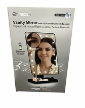 Vanity Mirror With LEDs & Bluetooth Speaker 10 X Magnification  CJ Tech New - $44.55
