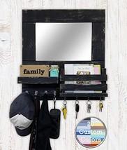 Bristol Mail Holder Wall/Key Holder Wall Shelf/Decorative Mirror/Rustic Wooden M