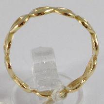 Bague en or Jaune 750 18K, Fila De Symboles Infini, Fabriqué En Italie image 3