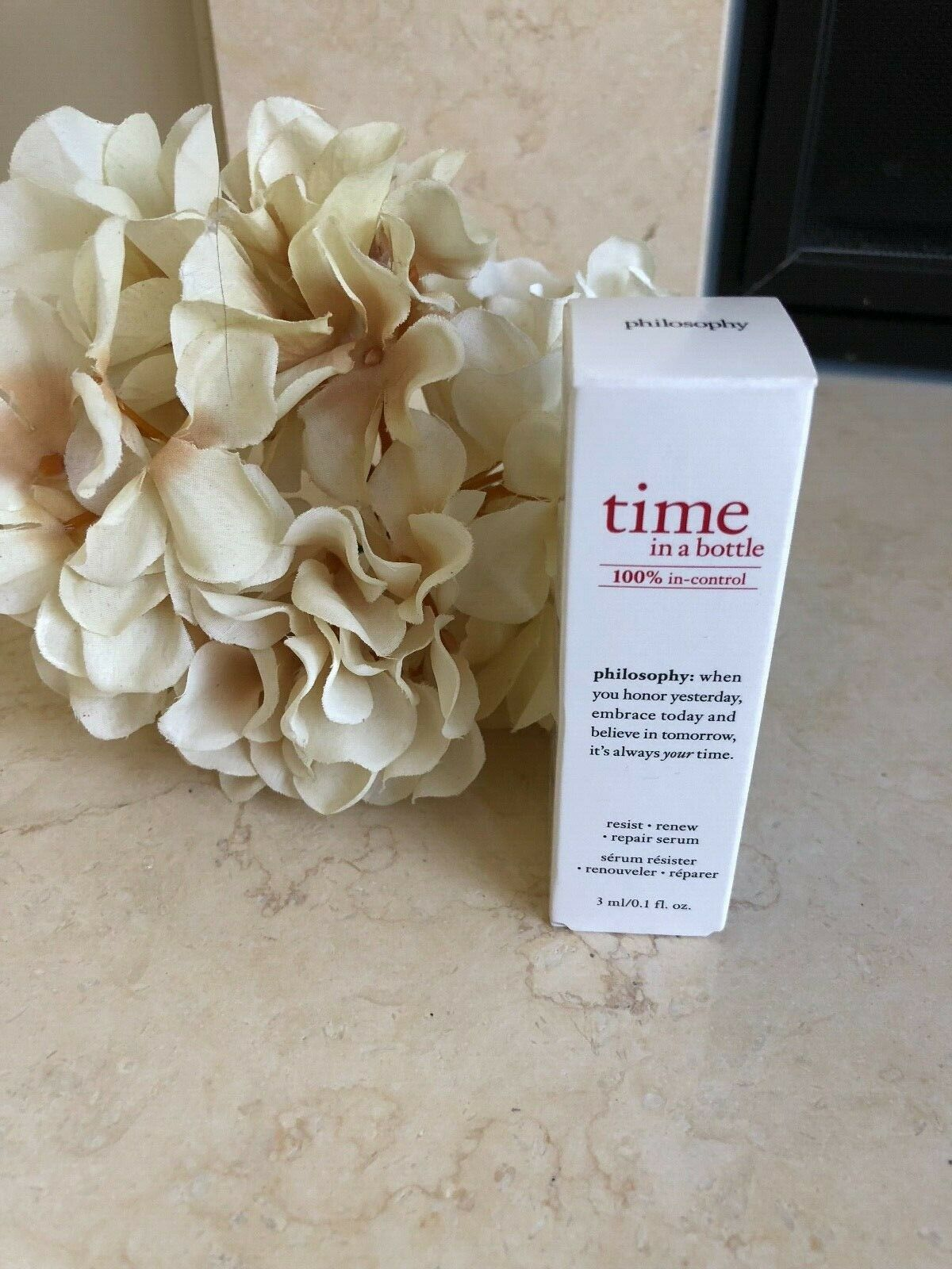 Primary image for NEW IN BOX Philosophy Time in a Bottle Repair Serum, Deluxe Sample Size, 3ml