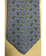 NEW $100 Peter Blair Light Blue With Ducks and Shotgun Shells Men's Silk... - $52.49