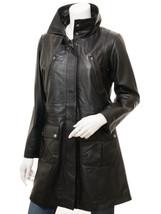 QASTAN Women's New Fashion Stylish Black Sheep Leather Long Jacket / Coa... - $187.11+