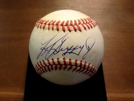 KEN GRIFFEY JR SEATTLE MARINERS REDS HOF SIGNED AUTO VINTAGE OAL BASEBAL... - $217.79