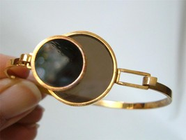 """Vintage FLW Style """"Stained Glass"""" MODernist Bracelet Lucite Circles Gold... - $21.78"""