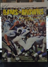 RAMS VS. BROWNS PROGRAM 21ST ANNUAL LA TIMES AUGUST 6 1966 CHARITY GAME - $19.55