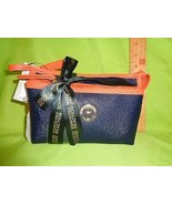 Kenneth Cole BLUE AND ORANGE 2 PC REACTION NEW Travel HANDBAG Makeup Bag... - $19.79