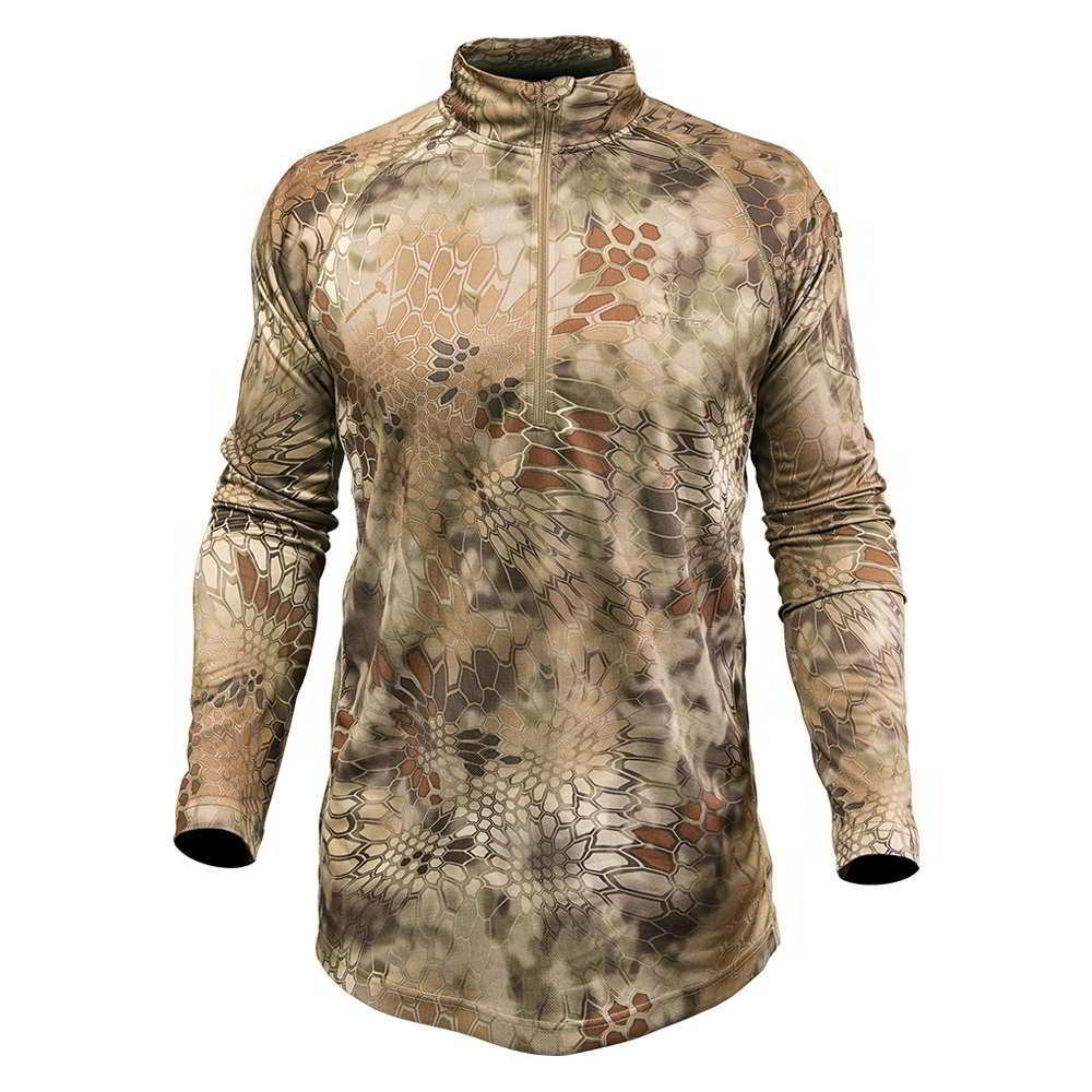 Primary image for Kryptek Helios 1/4 Zip Long Sleeve Shirt Highlander Camo XS LS extra small hunt