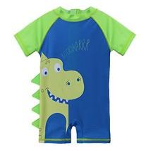 HUANQIUE Baby Toddler Boy Swimsuit Rash Guard Swimwear One Piece Lime Di... - $18.05
