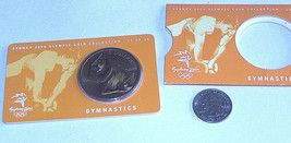 NEW IN SLEEVE 2000 SYDNEY OLYMPIC $5 DOLLAR GOLD TONE GYMNASTICS COIN #13 OF 28 - $13.78