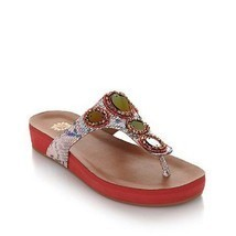 Yellow Box Women's Karlie Sandal  , Coral, Size 6 Med. - $46.96 CAD