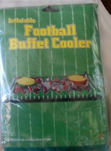 """Inflatable Football Buffet Cooler Salad Bar Tailgate Party 54x28"""" Beistle - $8.80"""