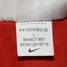 Nike Dri-Fit Men's Red Crew Neck Athletic Training Shirt Size L 384407-657 image 5