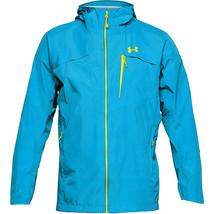 Under Armour Men Blue Hood Windbreaker Running Hiking Scrambler Jacket C... - $59.99