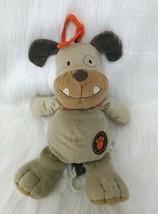 "13"" Carters Bulldog Puppy Dog Lovey Brown Musical Baby Plush Crib Toy B207 - $14.99"