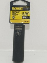 DEWALT DWMT73936OSP 6 Point 1/2'' Drive Deep Impact Socket 5/8'' SAE - $7.91
