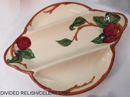 VINTAGE FRANCISCAN APPLE DIVIDED RELISH DISH - $24.74