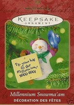 2000 Millennium Snowma'am Keepsake Ornament - $19.99