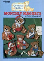Cherished Teddies Monthly Magnets in Plastic Canvas Leaflet 1822 - $6.95