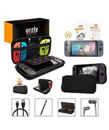 Orzly Switch Accessories Bundle, Black Orzly Carry Case for Nintendo Swi... - $23.00