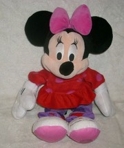 "16"" Minnie Mouse Christmas Snowman Slipper Disney Stuffed Animal Plush Toy Doll - $23.38"