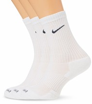 Nike 3 Pair Pack Dri-Fit Cushion Crew White/Flint Grey L 8-12(M) 10-13 (... - $24.99