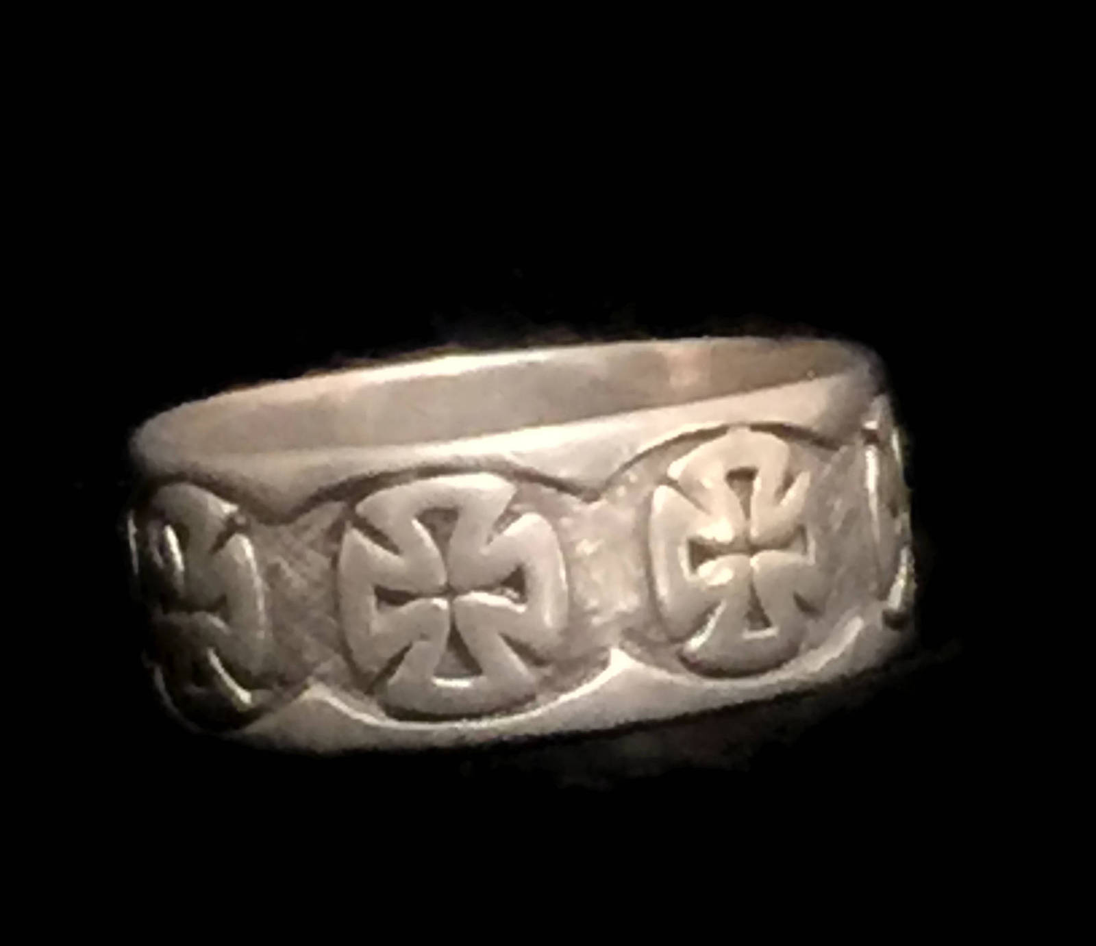 Vintage Iron Cross Sterling Silver Ring Size 12.25 Men Maltese Cross Ring