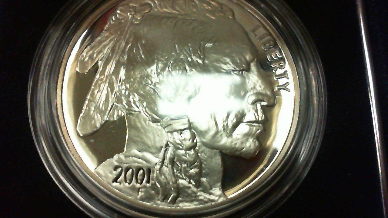 2001 Silver $1 American Buffalo Commemorative Coin Set - Proof