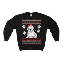 Bulldog Dog Ugly Christmas Sweatshirt Xmas - $29.95+