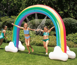 Summer Waves Giant Rainbow Arch Water Sprinkler 99in x 78in Long - £32.59 GBP