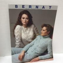 Vtg 1983 Bernat Book #513 Knitting Sweater Pattern Book - $5.69