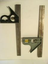 Two Vintage Squar Square Angle Level Ruler  - $19.80