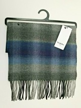 Blue Plaid Scarf Fringe One Size Mens Goodfellow & Co. - $17.99