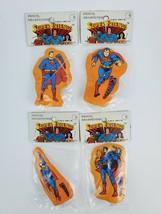 Lot 4 Vintage Super Friends Superman Pencil Sharpeners 1980 DC Comics Sealed - $56.09