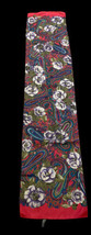 Vintage Liz Sinclair Scarf Paisley Pink Purple Roses Floral Italy Polyester - $9.89