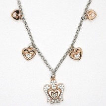 925 STERLING SILVER NECKLACE, HEART ANGEL, ZIRCON, ROBERTO GIANNOTTI, GIA331 image 2