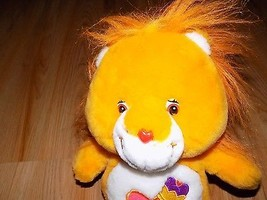 "13"" Brave Heart Lion Care Bear Cousins Plush Stuffed Animal 2004 Heart C... - $22.00"