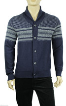NEW MENS TOMMY HILFIGER SHAWL COLLAR BUTTON BLUE LAMBSWOOL SWEATER CARDI... - €51,40 EUR