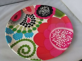 Large Serving Plate Floral Picnic Outdoor Dining Plastic French Bull for... - $22.31