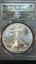 2020 P American SILVER EAGLE Dollar $1 EMERGENCY ISSUE PCGS MS70 Coin sku c144 image 3