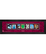 Personalized Southern Illinois Salukis Campus Letter Art Framed Print - $39.95