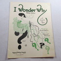 I Wonder Why I Love You Sheet Music Vintage 1920 Waltz Ballad Frame Cove... - $34.63