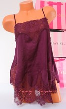 Vs ~Victoria's Secret Babydoll Slip Lingerie Silky Lace Unlined ~L Large~ Purple - $26.39