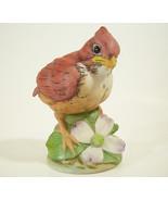 ANDREA By Sadek Baby CARDINAL Figurine Bird Bisque Porcelain Figural 635... - $14.84