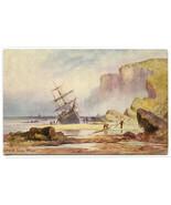 Ship Wreck Sailing Ship Filey Off Scarborough UK artist J Eaman Tuck pos... - $6.93
