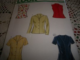 Misses' Sleeveless, Short or Long Sleeve Tops Pattern New Look Simplicity  6598 - $10.00