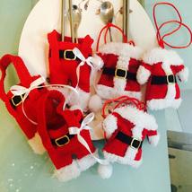 3pcs Handmade Santa Suit Clothes Christmas Cutlery Silverware Pockets Kn... - $20.00