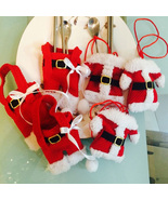 3pcs Handmade Santa Suit Clothes Christmas Cutlery Silverware Pockets Kn... - $20.00