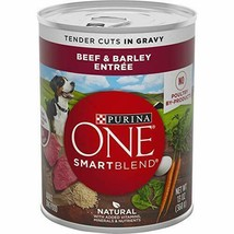 Premium Purina ONE SmartBlend Canned Wet Dog Food (12) 13 oz. Cans, Beef... - $23.36