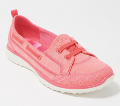 Skechers Women Slip On Boat Shoes Microburst Topnotch Size US 8.5W Coral - $63.00