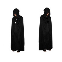 Halloween Hooded Cape Witch Adult Devil Robe Floor Length Cosplay Party ... - $14.99